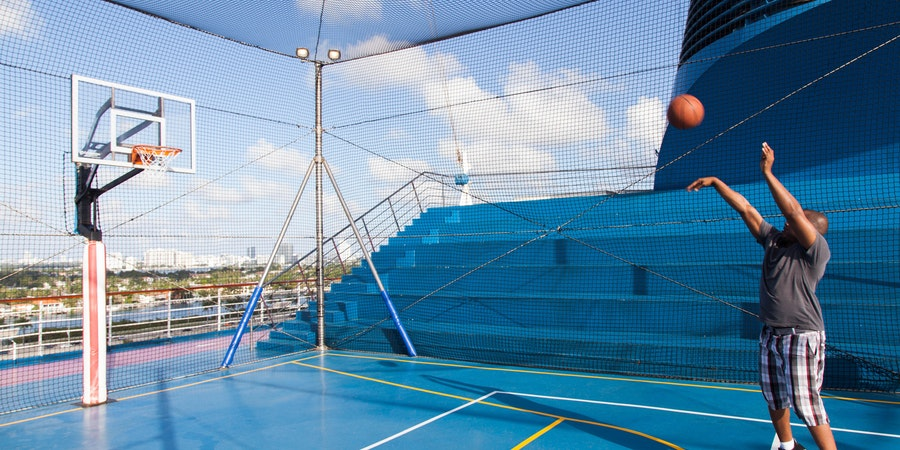 Many large cruise ships have basketball courts on board (Photo: Cruise Critic)