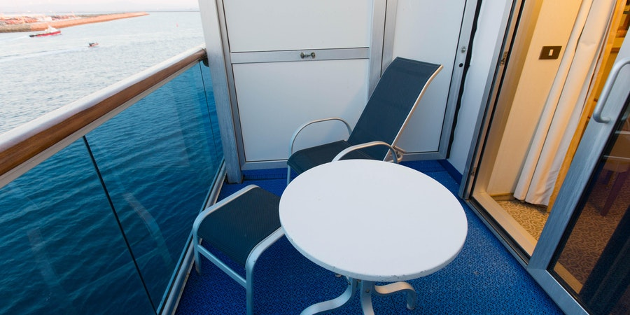 The Mini-Suite with Balcony on Crown Princess