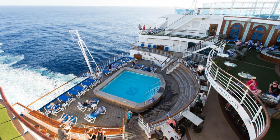 The Terrace Pool on Crown Princess