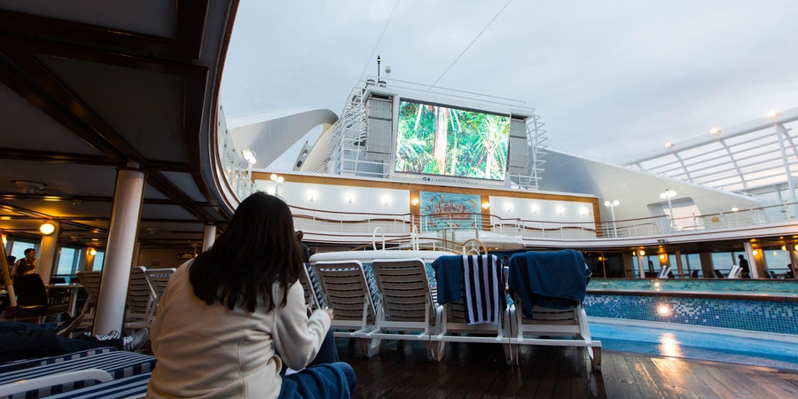 Outdoor Movie Screen on Caribbean Princess