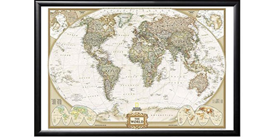 National Geographic Travel Map With Pins (Photo: Amazon)