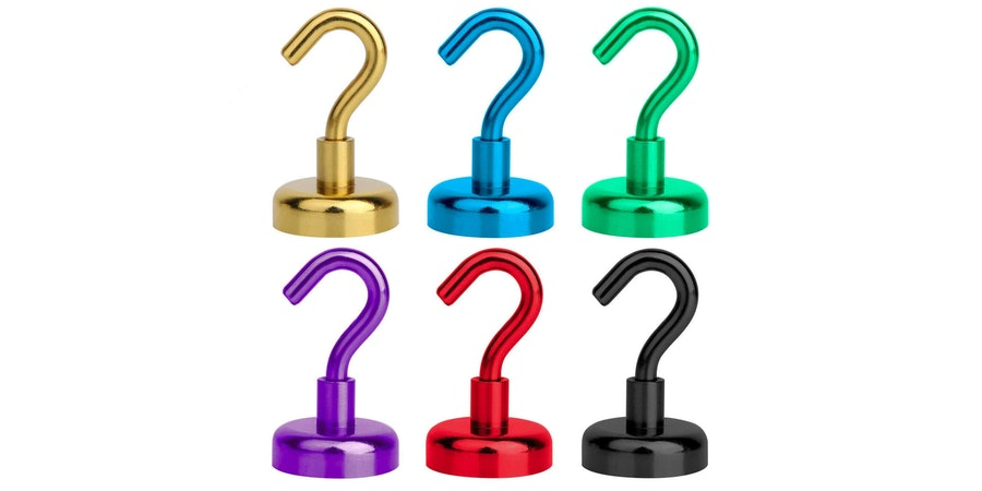 HUKER Colored Magnetic Hooks (Photo: Amazon)
