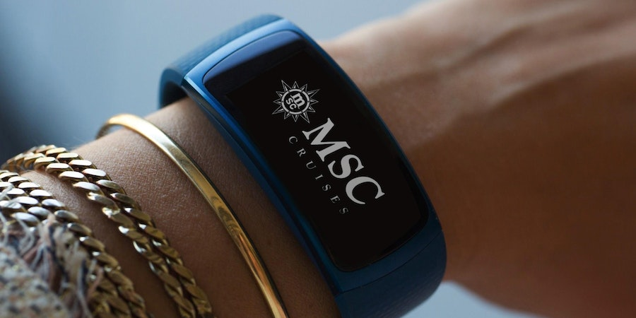 Samsung smart bracelets for MSC for Me (Photo: MSC Cruises)
