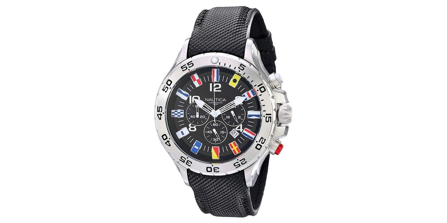 "Nautica Men's ""Signal Flag"" Watch (Photo: Amazon)"