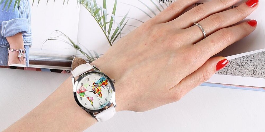 Watercolor Map Watch (Photo: Amazon)