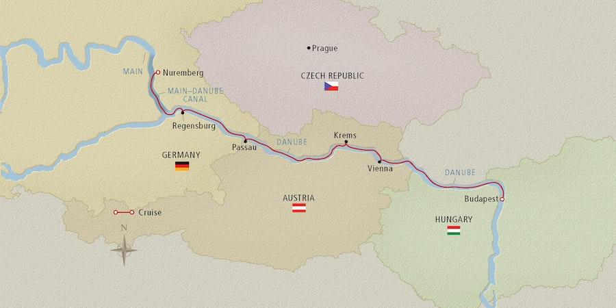map of europe danube river Danube River Cruise Map