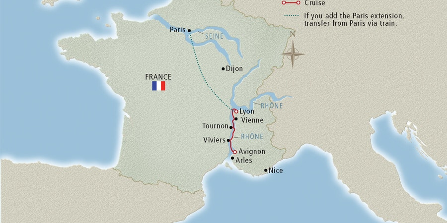 Rhone River Cruise Map