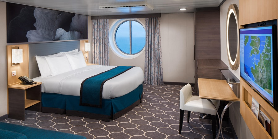 Ocean View Stateroom on Harmony of the Seas (Photo: Royal Caribbean International)