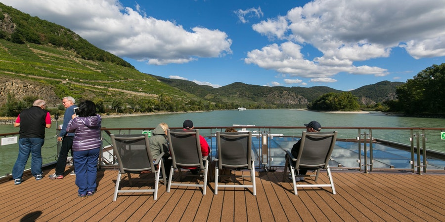 Passengers relaxing on Viking Gullveig's Sun Deck (Photo: Cruise Critic)