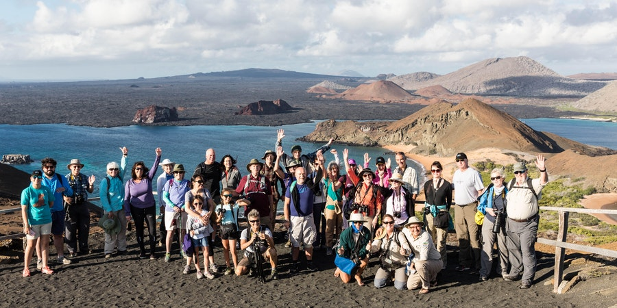 Lindblad Expeditions passengers at Bartolome Island in the Galapagos (Photo: Cruise Critic