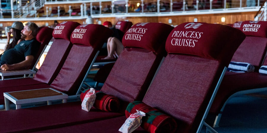 Movies Under the Stars on Emerald Princess