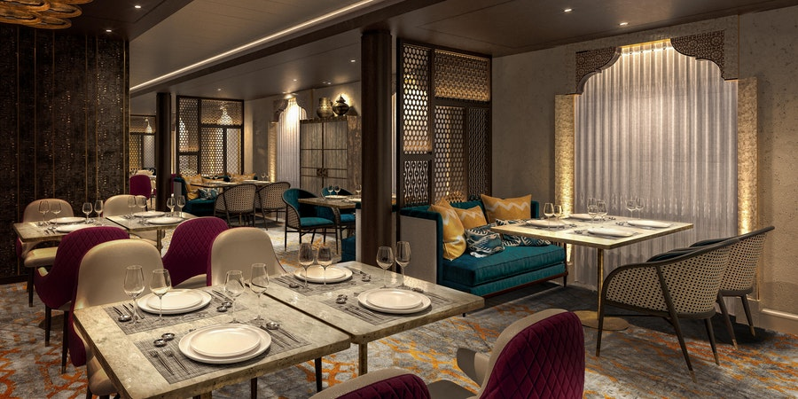 Khukuri House Nepalese restaurant on Spirit of Discovery (Photo: Saga Cruises)