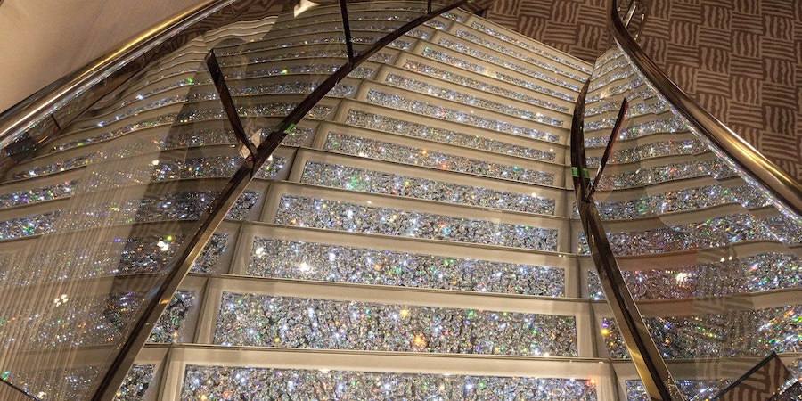 Swarovski Crystal Staircase on MSC Divina (Photo: Cruise Critic)