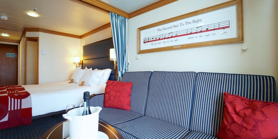 Deluxe Ocean-View Cabin with Verandah on Disney Magic