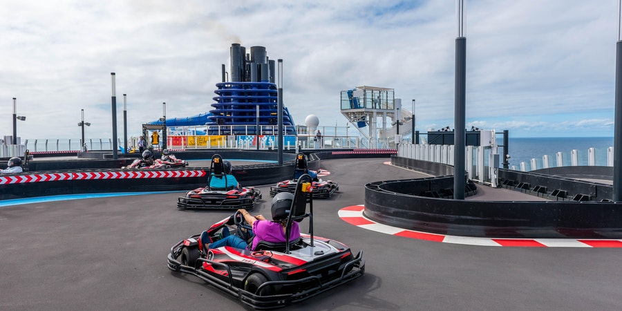 Go-Kart Racetrack on Norwegian Bliss (Photo: Cruise Critic)