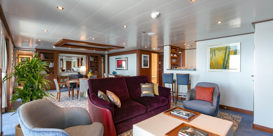 The Wintergarden Suite on Seabourn Ovation
