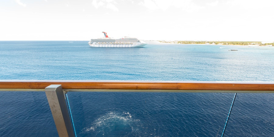 View of the sea from a balcony cabin on Carnival Freedom (Photo: Cruise Critic)