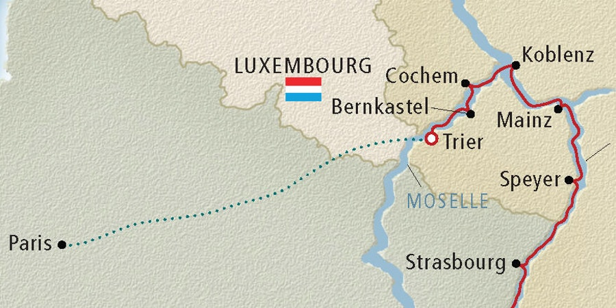 Moselle River Cruise Map