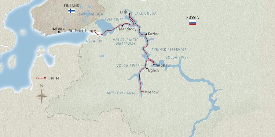 volga river on europe map Volga River Cruise Map