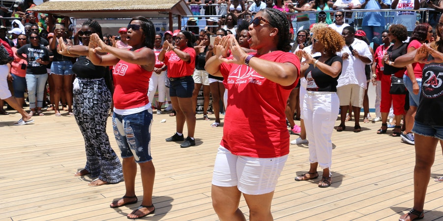 Festival at Sea hosts  an annual step show where Sororities and Fraternities can showcase their talents and traditions (Photo: Festival at Sea/Blue World Travel Corp.)