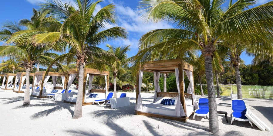 South Beach Cabanas at CocoCay (Photo: Royal Caribbean International)