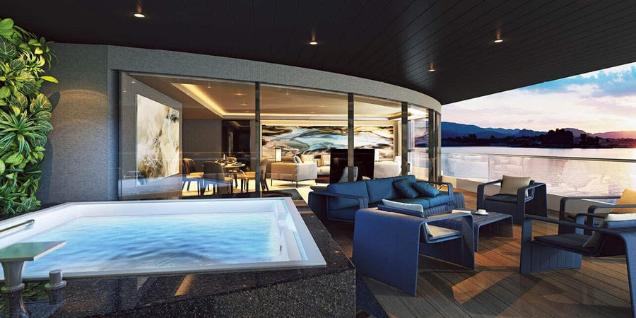 The Balcony Suite on Scenic Eclipse (Photo: Scenic)