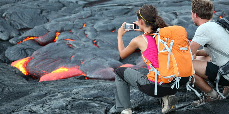 Couple Shooting at Volcano (Photo: Maridav/Shutterstock)