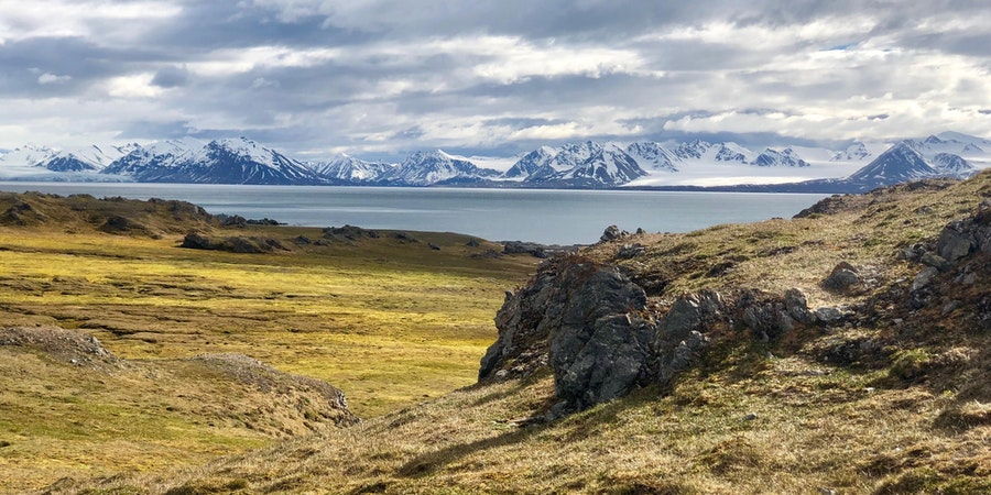 Spectacular Arctic scenery in Svalbard. This particular section of the archipelago is only open to cruise ships carrying less than 200 passengers (Photo: Chris Gray Faust)