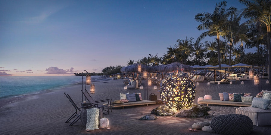 Virgin Voyages' Beach Club at Bimini (Image: Virgin Voyages)