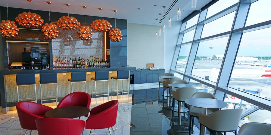 The American Airlines Lounge at John F. Kennedy International Airport (Photo: EQRoy/Shutterstock.com)