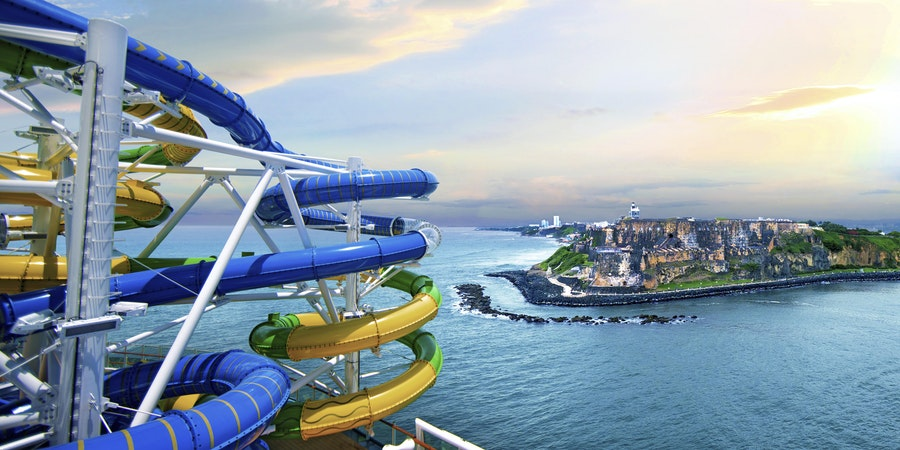 The Two New Perfect Storm Waterslides, Cyclone and Typhoon (Photo: Royal Caribbean International)