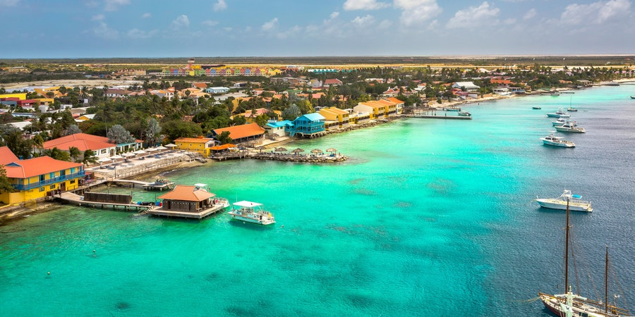 Arriving at Bonaire at the Capital of Bonaire, Kralendijk in this Beautiful Island of the Caribbean Netherlands (Photo: Paulo Miguel Costa/Shutterstock)