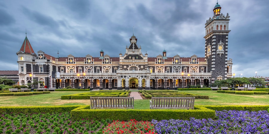 Historic Dunedin Railway Station at South Island of New Zealand (Photo: Ruslan Kalnitsky/Shutterstock)