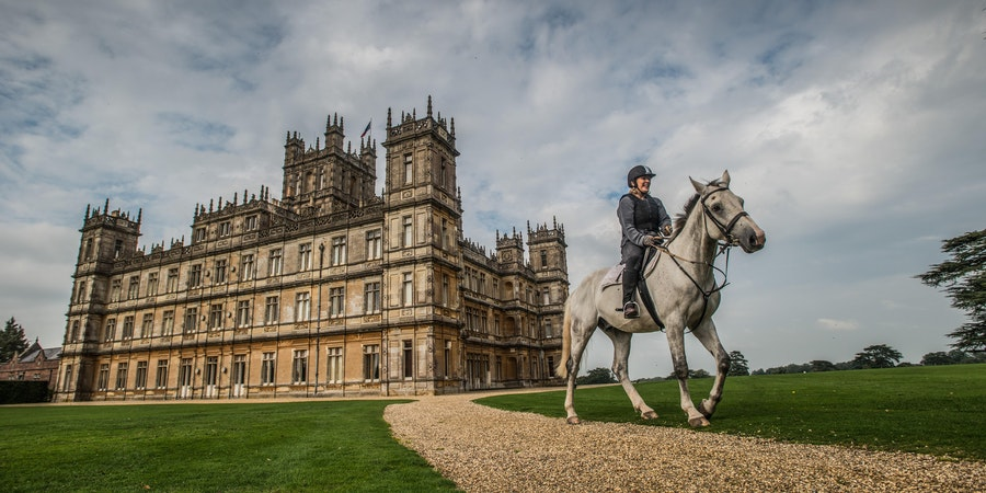 Lady Carnarvon rides at Highclere Castle (Photo Viking Ocean Cruises)