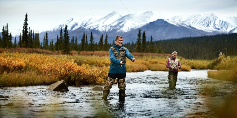 Fishing is a popular activity for visitor to Denali. (Photo: Princess Cruises)