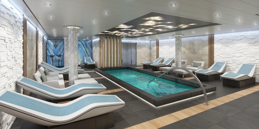 Mardi Gras Cloud 9 Spa Thermal Suite on Carnival (Photo: Carnival Cruise Line)