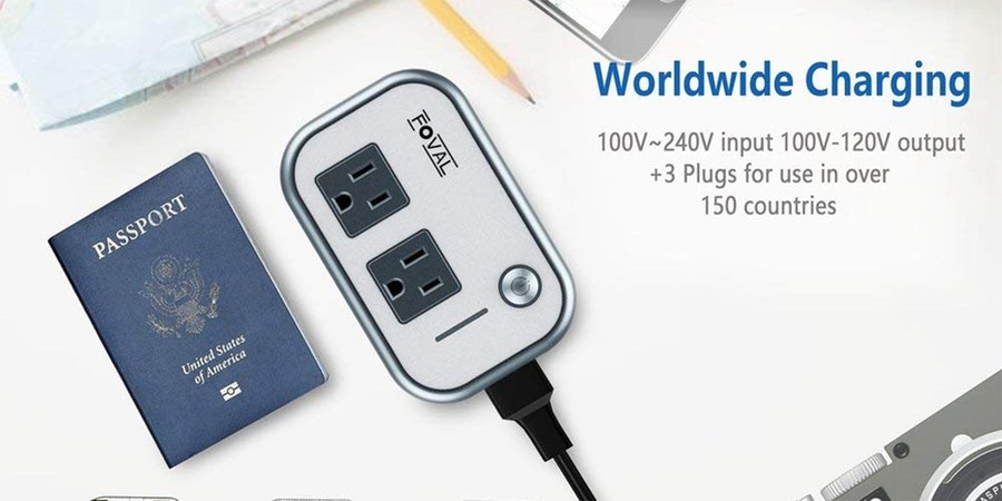 Foval Power Step Down 220V to 110V Voltage Converter with 4-Port USB International Travel Adapter (Photo: Amazon)