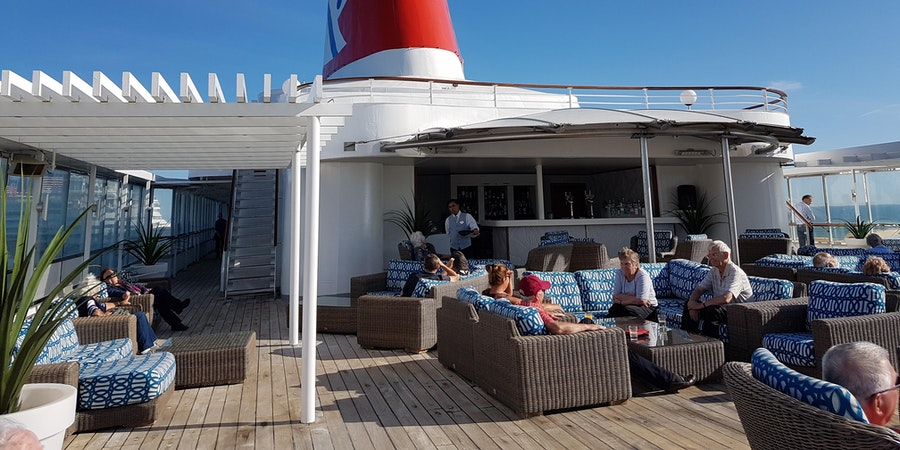 Sail away on the sun deck of Boudicca (Photo: Donna Dailey)