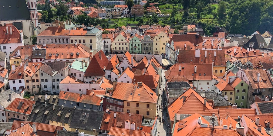 Cesky Krumlov, Czech Republic, is a great tour option on Danube River cruises. (Photo by Carolyn Spencer Brown)