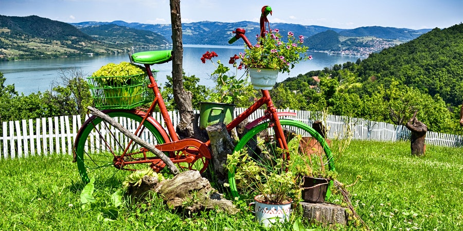 Cycling along the Danube. (Photo by Shutterstock)
