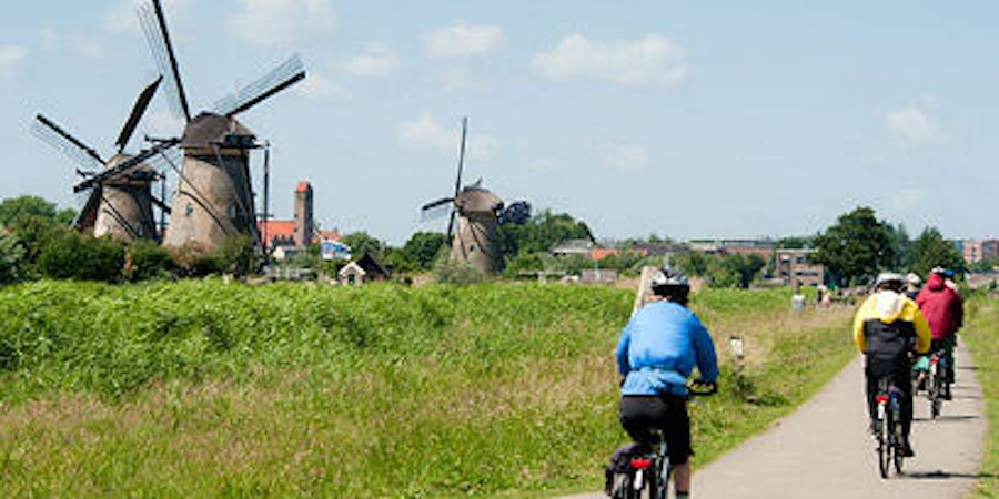 Cycling in Kinderdijk  (photo by Larry Bleiberg)