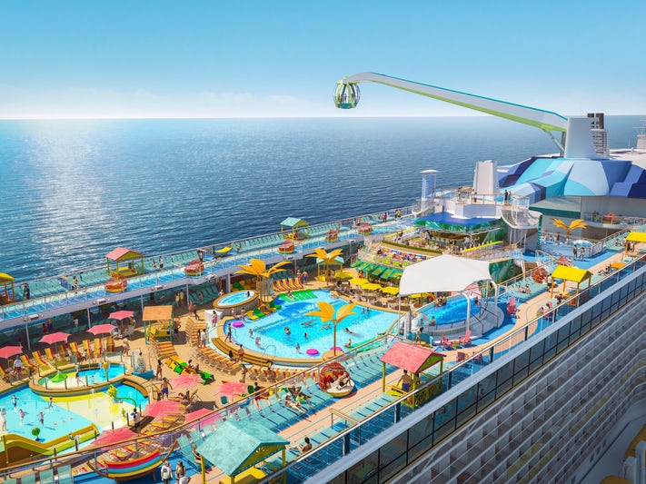 The two-level pool deck on Odyssey of the Seas (Image: Royal Caribbean)