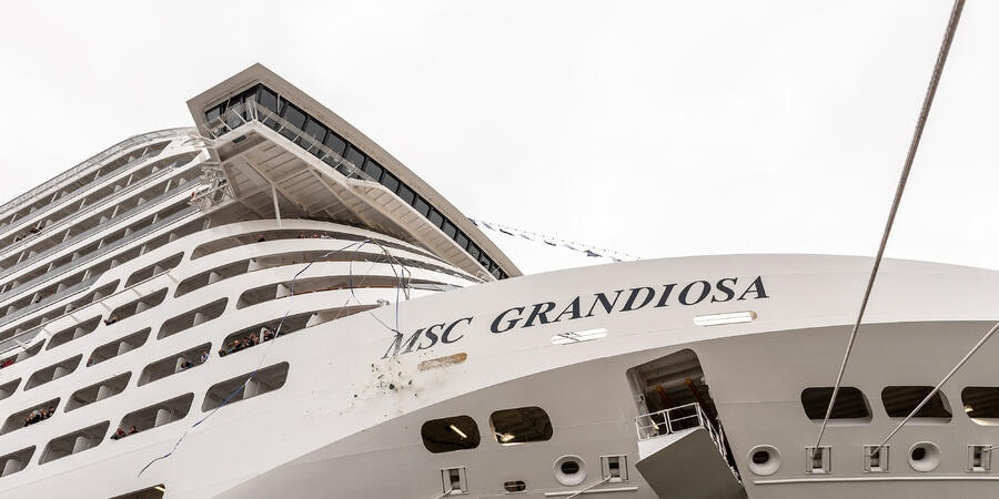 MSC Grandiosa is delivered to MSC Cruises (Photo: Ivan Sarfatti/MSC Cruises)