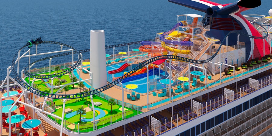 The Roller Coaster on Carnival's Mardi Gras (Photo: Carnival Cruise Line)