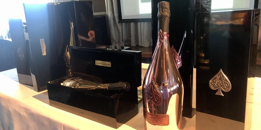 The Ace of Spades Champagne, which was created by the Cattier family over 12 generations (Photo: Chris Gray Faust/Cruise Critic)