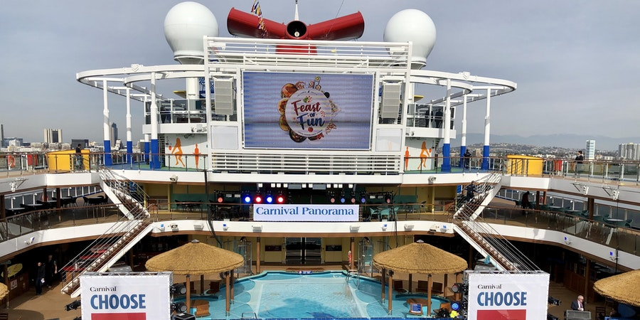 The Main Pool on Carnival Panorama (Photo: Chris Gray Faust/Cruise Critic)