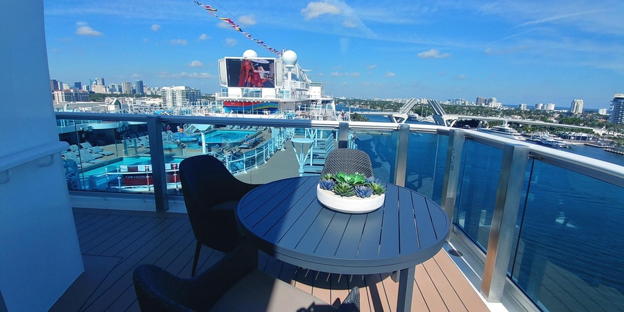 View from the Sky Suite balcony on Sky Princess (Photo: Dori Saltzman/Cruise Critic)