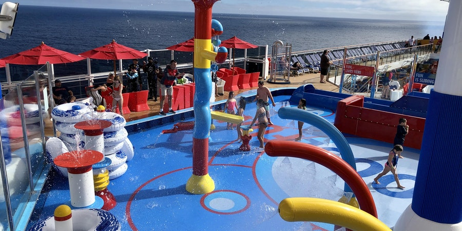 Water park on Carnival Panorama (Photo: Chris Gray Faust/Cruise Critic)