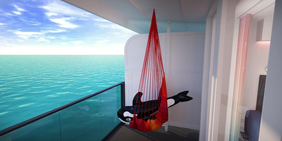 Sea Terrace balcony (Image: Virgin Voyages)