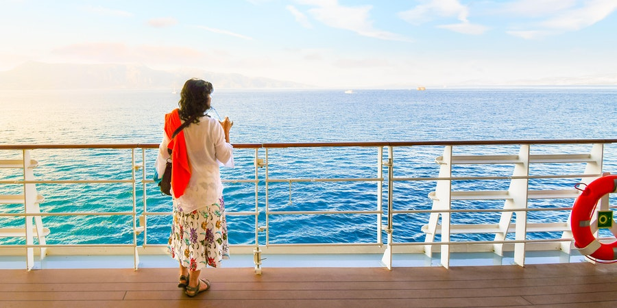 Woman on a cruise in the Mediterranean (Photo: Kirk Fisher/Shutterstock.com)
